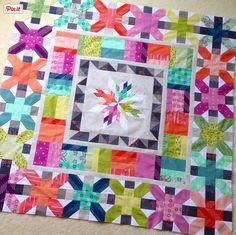 Aviatrix Medallion in Cotton + Steel (work in progress) | Freshly Pieced Modern Quilts