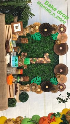 23 Clever DIY Christmas Decoration Ideas By Crafty Panda Safari Theme Birthday, Boys First Birthday Party Ideas, Jungle Theme Parties, Wild One Birthday Party, Jungle Party, Safari Party, 1st Birthday Parties, Lion King Party, Lion King Birthday