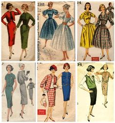 Growing up there were a lot of patterns around our house. My Mother used to make our clothes.