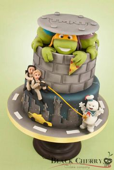This is PERFECT! My boys are obsessed w/TMNJ and Ghostbusters! Little Cherry Cake Company (T-Cakes)