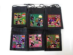 VINTAGE Hmong Traditional Hill Tribe Embroidered Purse with Strap - Storied Patchwork of Hmong Village Life on Etsy, $16.00, www.etsy.com/whiteelephantco