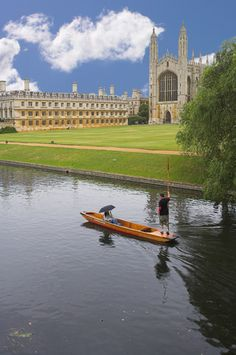 King's College in Cambridge - we rented a canoe to travel on the River Cam...weren't brave enough to try a punt boat after seeing folks end up in the water.
