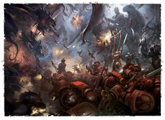 Blood Angels face the endless swarm of Tyranids.
