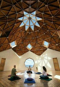 Spacious meditation room From: Workout Wellness :: The Official Taos Vacation Guide :: Taos New Mexico Meditation Chair, Best Meditation, Meditation Retreat, Meditation Center, Meditation Space, Yoga Retreat Center, Eco Construction, Taos New Mexico, Dome House