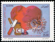 Francobolli - Lotta contro il cancro - Fight against cancer Stamps Algeria 2015
