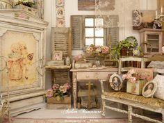 *♥ Atelier de Léa - Un Jour à la Campagne ♥*: Un bouquet de roses et d'hortensias pour la Saint-Valentin