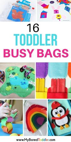 Toddler Busy Bags - a collection of busy bags for one and two year olds. Quiet bin activities for toddlers. Easy and simple activities for toddlers to keep them busy when you need them to be quiet and entertained. Quiet Time Activities, Toddler Learning Activities, Infant Activities, Toddler Preschool, Toddler Crafts, Preschool Activities, Toddler Games, Parenting Toddlers, Indoor Activities
