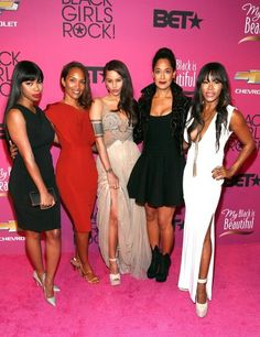 The cast of the TV show Girlfriends