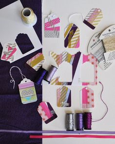 Art Journal inspiration: someone's having fun with washi tape!