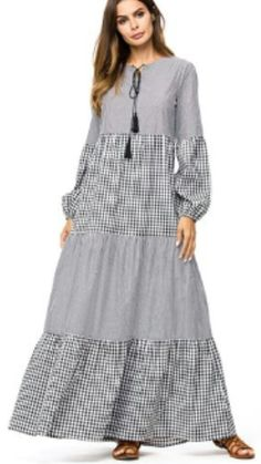 Plaid Stripe Patchwork Women Dresses Autumn Casual Maxi Dresses Ruffles Long Muslim Dress - Plaid Stripe Patchwork Women Dresses Autumn Casual Maxi Dresses Ruffles Long Muslim Dress – Hijab Modesty İstanbul Source by sibonilem - Abaya Fashion, Muslim Fashion, Fashion Dresses, Fall Dresses, Simple Dresses, Casual Dresses, Short Dresses, Ruffle Dress, Boho Dress