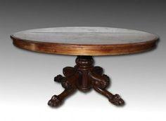 tavolo piede centrale in mogano xix secolo Antiquariato su Anticoantico