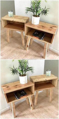 Most Creative Simple DIY Wooden Pallet Furniture Project Ideas wooden pallet end tables The post Most Creative Simple DIY Wooden Pallet Furniture Project Ideas appeared first on Pallet Ideas. Wooden Diy, Decor, Pallet End Tables, Diy Pallet Furniture, Diy Home Decor, Furniture Projects, Diy Furniture, Diy Pallet Projects, Home Decor Items