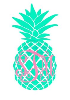 Monogrammed Two Tone Pineapple Vinyl Decal Monogram Keychain, Vinyl Monogram, Cricut Vinyl, Vinyl Decals, Vinyl Tumblers, Cricut Creations, Vinyl Designs, Crafts To Do, Pineapple