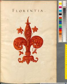 Heraldry of Florence -Insignia Florentinorum - BSB Cod.icon. 277, [S.l.] Italian, 1550-1555, http://opacplus.bsb-muenchen.de/search?oclcno=165874366 view the whole book here: http://daten.digitale-sammlungen.de/~db/bsb00001424/image_1