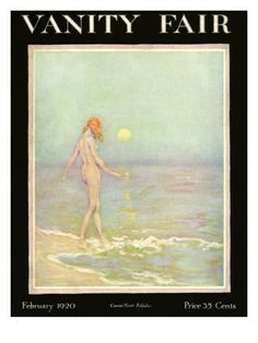 Vanity Fair Cover - February 1920 Poster Print by Warren Davis at the Condé Nast Collection