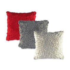 Felt Puffy Dahlia Square Toss Pillow - BedBathandBeyond.com