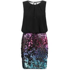 Laona Cocktail dress Party dress black/multicolour ($155) ❤ liked on Polyvore featuring dresses, multi-color dress, colorful dresses, multi print dress, multicolored dress and multi color dress