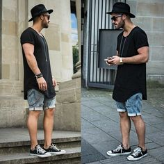 Hurley Fedora, Lusardi London Jewellery, Lovers + Friends Long Extented Tee, HM Jeans ( Custom ), Co Fashion Mode, Urban Fashion, Mens Fashion, Fashion Trends, Mode Hipster, Black Hipster, Hipster Grunge, Hipster Style, Style Urban