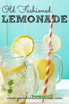 No summer is complete without some good old fashioned lemonade. Once you try real lemonade you'll never go back to those powdery mixes again! This recipe takes less than ten minutes to make. It's so simple and contains only three ingredients. You can make it in double or triple batches and freeze the extra in ice cube trays, that way you'll be prepared for last minute guests or an impromptu picnic!