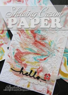 Seeing Ink Spots: Shaving Cream Paper