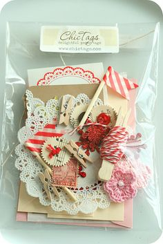 December daily embellishments are fun for planners or pocket letters December Daily, Mini Albums, Pretty Packaging, Craft Packaging, Shabby Chic Crafts, Candy Cards, Pocket Letters, Paper Tags, Scrapbook Embellishments