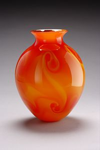 Fire Vase: Geoff Lee: Art Glass Vase | Artful Home