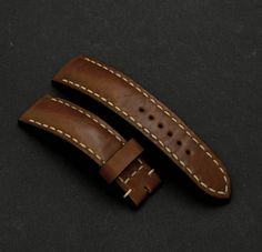 0164385b0ca13 20\18mm Tan color leather watch strap Breitling style for any watches