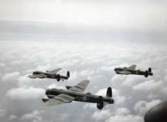 Lancasters in flight