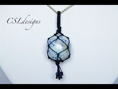 How to wrap a stone/cabochon with macrame series - Nr 4 Tassel netting technique - YouTube