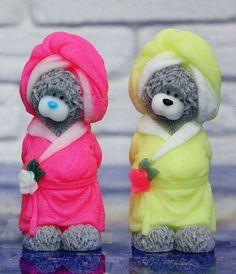 Teddy Bear After a Shower Bathtub in a dressing gown Teddy Bear Souvenir Soap Teens Gift for Girlfriend Baby Soap Funny Soap moms gift #teddybear #handmadesoap #soap