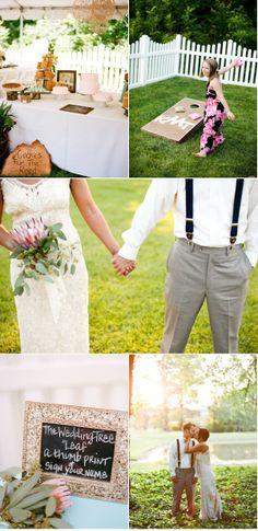 Amazing backyard wedding
