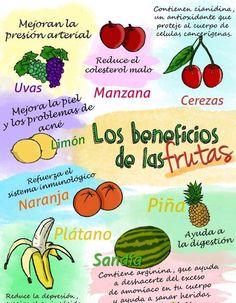 Los beneficios de las frutas y nutricion