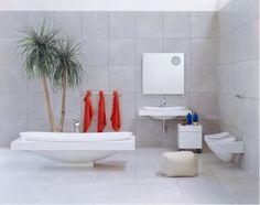 Ceramic Bathtub With Colorful Shelf - IO By Flaminia Marble Bathtub, Bathtub Walls, Small Bathroom Interior, Bathroom Sets, Bathroom Furniture, Small Bathrooms, Bathtub Pictures, Bunt, Interior Design