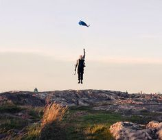 Stockholm-based photographer Viktor Gårdsäter's series Balloon Man's Last Walk