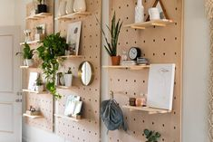 Peg Board Shelves 11 Easy Diy Shelves To Maximize A Small E. Shelves Peg Board Shelf Nz Creative Shelf Shelf Furniture Pin It. Diy Idea Plywood Pegboard Shelf Homes You. Shabby Chic Decor, Shabby Chic Living Room, Shelves, Diy On A Budget, Wooden Pegboard, Home Decor, Home Diy, Shabby Chic Furniture, Small Space Storage