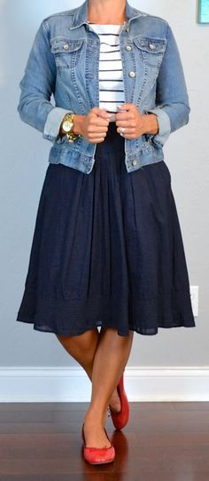 Hot pink and navy blue. | Style | Pinterest | Blue skirts, Silver ...