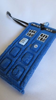 Doctor Who TARDIS Handpainted Salt Dough by WhistlingDoe on Etsy