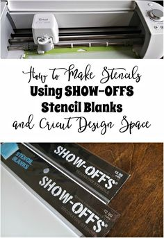If you've ever wondered if you can use the SHOW-OFFS Stencil Blanks with your Cricut Machine, the answer is yes! How to Make Stencils Using SHOW-OFFS Stencil Blanks and Cricut Design Space (Step Card Cricut) How To Use Cricut, Cricut Help, How To Make Stencils, Making Stencils, Cricut Stencils, Cricut Vinyl, Stencil Vinyl, Cricut Tutorials, Cricut Ideas