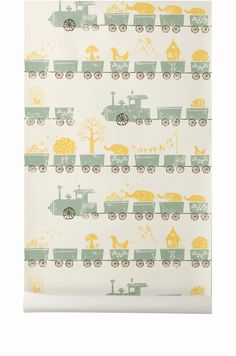 Tiny Train wallpaper | Ferm Living