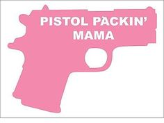 Female Pistol Packin Heat Gun Law Rights Hand Gun 2nd Amendment  Decal Sticker
