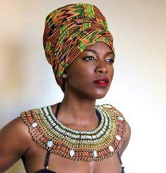Heritage Head Wrap #afrochic #royalhouseofwraps