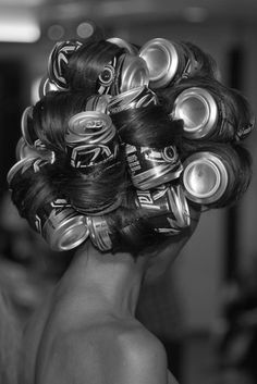 back in the 60's and 70's, everyone had long straight hair, and we used all kinds of large cans to roll our hair, so it'd be straight with alittle umph...