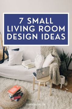 How do you make a small living room look bigger? Here are 7 small living room design ideas to maximize your space.    #smalllivingroomideas #smalllivingroom #livingroomdesign #livingroomideas #smalllivingroomdesign #interiordesign #interiordecorating #homedecorating #inteirorstyling #decoratingideas Small Living Room Design, Living Room Seating, Small Living Rooms, Living Room Designs, Rental Home Decor, Small End Tables, Living Room Decor Inspiration, Bright Decor, Shared Rooms