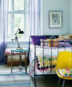 Mixed Print Bedroom.