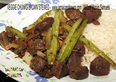 VEGGIE CHUNKS: Brown Stewed Awesome Organic Cooking   Rastafarian Vegeta...