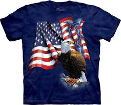 Flag Wolf Americana  Long Sleeve T Shirts Pick Your Size