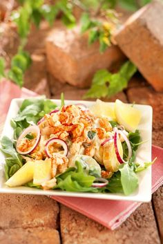 Caesar-perunasalaatti ja ravunpyrstöjä | K-ruoka #uusivuosi
