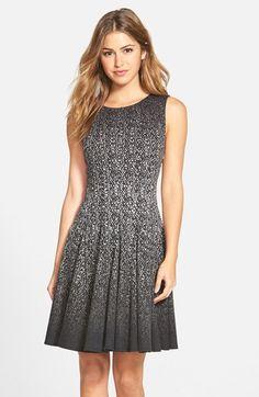 Eliza J Print Ombré Sleeveless Fit & Flare Dress (Regular & Petite) available at #Nordstrom