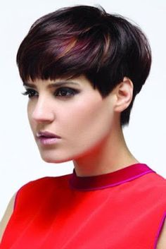 hair color ideas for winter 2015 - Hair Color Ideas Hair Color Ideas Dark Pixie Cut, Pixie Cut Color, Pixie Cuts, 2015 Hairstyles, Summer Hairstyles, Trendy Hairstyles, Hair Color Dark, Dark Hair, Short Hair Cuts For Women