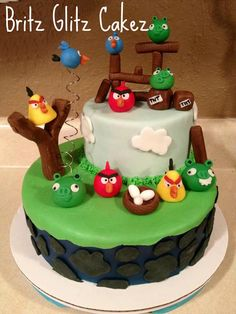My first angry bird cake!